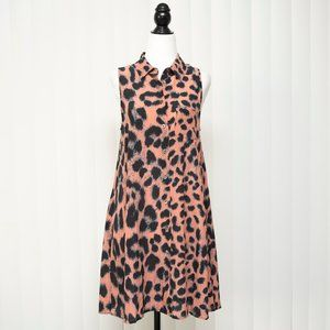 Equipment Mina Leopard-print Silk Crepe Mi…